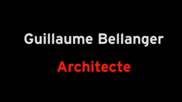 Guillaume Bellanger, architecte thumbnail